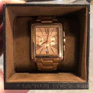 Michael Kors Rose Gold Square Watch